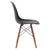 Vortex Side Chair Walnut Legs in Black (Set of 2) EM-105-WAL-X2 - YourBarStoolStore + Chairs, Tables and Outdoor  - 2