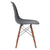 Vortex Side Chair Walnut Legs in Grey (Set of 2) EM-105-WAL-X2 - YourBarStoolStore + Chairs, Tables and Outdoor  - 2