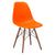 Vortex Side Chair Walnut Legs in Orange EM-105-WAL - YourBarStoolStore + Chairs, Tables and Outdoor  - 4