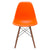 Vortex Side Chair Walnut Legs in Orange EM-105-WAL - YourBarStoolStore + Chairs, Tables and Outdoor  - 3