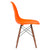 Vortex Side Chair Walnut Legs in Orange EM-105-WAL - YourBarStoolStore + Chairs, Tables and Outdoor  - 2