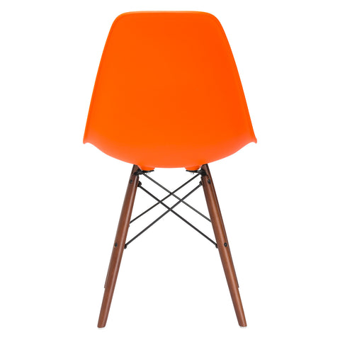 Vortex Side Chair Walnut Legs in Orange (Set of 2) EM-105-WAL-X2