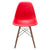 Vortex Side Chair Walnut Legs in Red (Set of 2) EM-105-WAL-X2 - YourBarStoolStore + Chairs, Tables and Outdoor  - 2