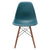 Vortex Side Chair Walnut Legs in Teal EM-105-WAL - YourBarStoolStore + Chairs, Tables and Outdoor  - 3