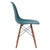 Vortex Side Chair Walnut Legs in Teal EM-105-WAL - YourBarStoolStore + Chairs, Tables and Outdoor  - 2