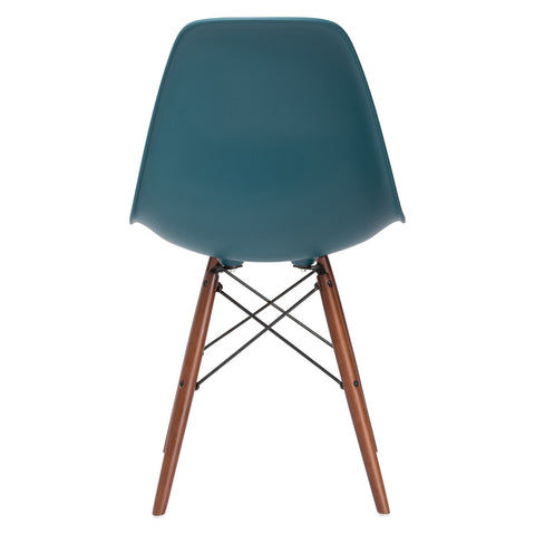Vortex Side Chair Walnut Legs in Teal (Set of 2) EM-105-WAL-X2