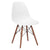 Vortex Side Chair Walnut Legs in White EM-105-WAL - YourBarStoolStore + Chairs, Tables and Outdoor  - 4
