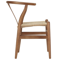 Weave Chair in Walnut (Set of 2) EM-109-X2 - YourBarStoolStore + Chairs, Tables and Outdoor  - 1