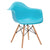 Vortex Arm Chair in Aqua (Set of 2) EM-110-NAT-X2 - YourBarStoolStore + Chairs, Tables and Outdoor  - 3