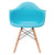 Vortex Arm Chair in Aqua (Set of 2) EM-110-NAT-X2 - YourBarStoolStore + Chairs, Tables and Outdoor  - 2