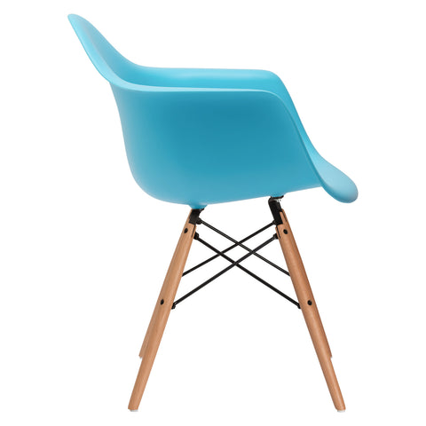 Vortex Arm Chair in Aqua (Set of 2) EM-110-NAT-X2