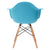 Vortex Arm Chair in Aqua (Set of 2) EM-110-NAT-X2 - YourBarStoolStore + Chairs, Tables and Outdoor  - 4
