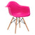 Vortex Arm Chair in Fuschia EM-110-NAT - YourBarStoolStore + Chairs, Tables and Outdoor  - 3