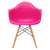 Vortex Arm Chair in Fuschia (Set of 2) EM-110-NAT-X2 - YourBarStoolStore + Chairs, Tables and Outdoor  - 2