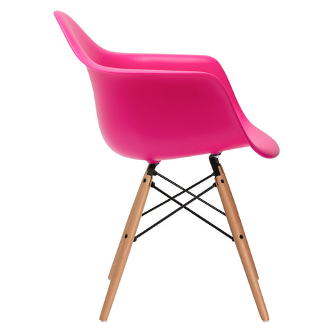 Vortex Arm Chair in Fuschia EM-110-NAT