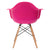 Vortex Arm Chair in Fuschia EM-110-NAT - YourBarStoolStore + Chairs, Tables and Outdoor  - 4