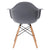Vortex Arm Chair in Grey (Set of 2) EM-110-NAT-X2 - YourBarStoolStore + Chairs, Tables and Outdoor  - 4