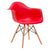 Vortex Arm Chair in Red (Set of 2) EM-110-NAT-X2 - YourBarStoolStore + Chairs, Tables and Outdoor  - 3