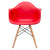 Vortex Arm Chair in Red (Set of 2) EM-110-NAT-X2 - YourBarStoolStore + Chairs, Tables and Outdoor  - 2