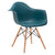 Vortex Arm Chair in Teal EM-110-NAT - YourBarStoolStore + Chairs, Tables and Outdoor  - 3