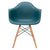 Vortex Arm Chair in Teal EM-110-NAT - YourBarStoolStore + Chairs, Tables and Outdoor  - 2