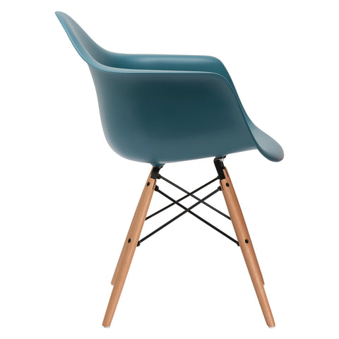 Vortex Arm Chair in Teal EM-110-NAT