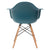 Vortex Arm Chair in Teal EM-110-NAT - YourBarStoolStore + Chairs, Tables and Outdoor  - 4
