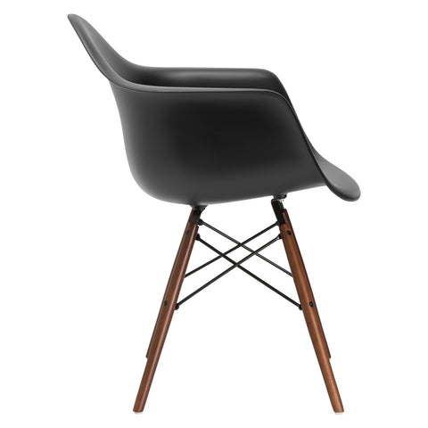 Vortex Arm Chair Walnut Leg in Black EM-110-WAL