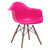 Vortex Arm Chair Walnut Leg in Fuchsia (Set of 2) EM-110-WAL-X2 - YourBarStoolStore + Chairs, Tables and Outdoor  - 3