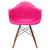 Vortex Arm Chair Walnut Leg in Fuchsia (Set of 2) EM-110-WAL-X2 - YourBarStoolStore + Chairs, Tables and Outdoor  - 2