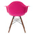 Vortex Arm Chair Walnut Leg in Fuchsia (Set of 2) EM-110-WAL-X2 - YourBarStoolStore + Chairs, Tables and Outdoor  - 4