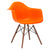 Vortex Arm Chair Walnut Leg in Orange EM-110-WAL - YourBarStoolStore + Chairs, Tables and Outdoor  - 3