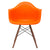 Vortex Arm Chair Walnut Leg in Orange EM-110-WAL - YourBarStoolStore + Chairs, Tables and Outdoor  - 2
