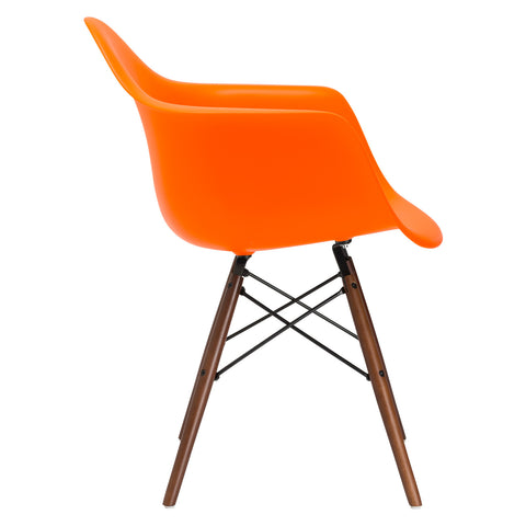 Vortex Arm Chair Walnut Leg in Orange EM-110-WAL