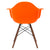 Vortex Arm Chair Walnut Leg in Orange EM-110-WAL - YourBarStoolStore + Chairs, Tables and Outdoor  - 4