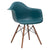 Vortex Arm Chair Walnut Leg in Teal (Set of 2) EM-110-WAL-X2 - YourBarStoolStore + Chairs, Tables and Outdoor  - 3