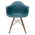 Vortex Arm Chair Walnut Leg in Teal (Set of 2) EM-110-WAL-X2 - YourBarStoolStore + Chairs, Tables and Outdoor  - 2