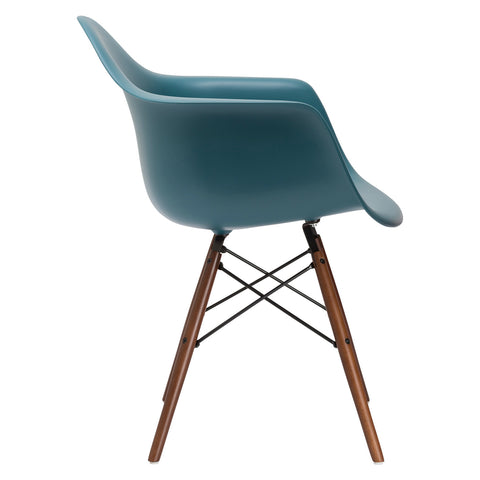 Vortex Arm Chair Walnut Leg in Teal EM-110-WAL