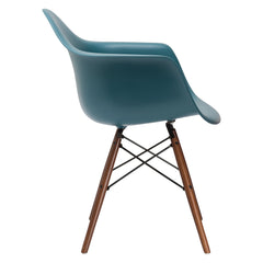 Vortex Arm Chair Walnut Leg in Teal EM-110-WAL - YourBarStoolStore + Chairs, Tables and Outdoor  - 1