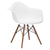 Vortex Arm Chair Walnut Leg in White EM-110-WAL - YourBarStoolStore + Chairs, Tables and Outdoor  - 3