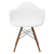 Vortex Arm Chair Walnut Leg in White EM-110-WAL - YourBarStoolStore + Chairs, Tables and Outdoor  - 2