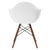 Vortex Arm Chair Walnut Leg in White EM-110-WAL - YourBarStoolStore + Chairs, Tables and Outdoor  - 4