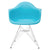 Padget Arm Chair in Aqua (Set of 2) EM-111-CRM-X2 - YourBarStoolStore + Chairs, Tables and Outdoor  - 2