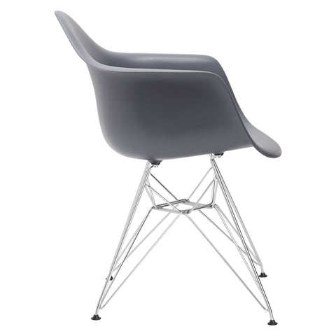 Padget Arm Chair in Grey EM-111-CRM
