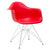 Padget Arm Chair in Red EM-111-CRM - YourBarStoolStore + Chairs, Tables and Outdoor  - 3