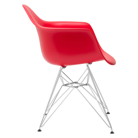 Padget Arm Chair in Red EM-111-CRM