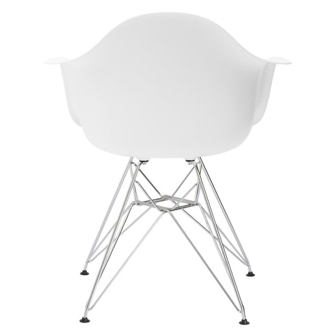 Padget Arm Chair in White EM-111-CRM