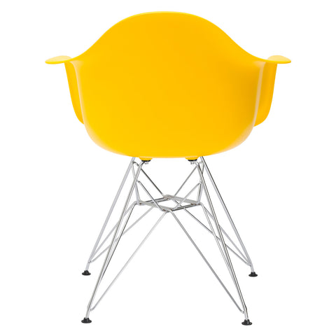 Padget Arm Chair in Yellow (Set of 2) EM-111-CRM-X2