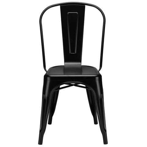 Trattoria Side Chair in Black (Set of 2) EM-112-X2