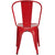 Trattoria Side Chair in Red (Set of 2) EM-112-X2 - YourBarStoolStore + Chairs, Tables and Outdoor  - 2